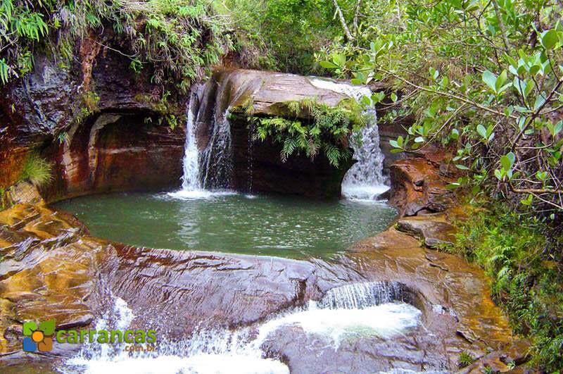 Passagem obrigatória em Carrancas é o Complexo da Zilda, composta por diversas cachoeiras. (Foto: Divulgação/ carrancas.com)