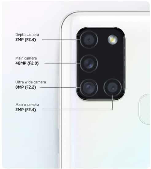 Câmera Samsung Galaxy A21S