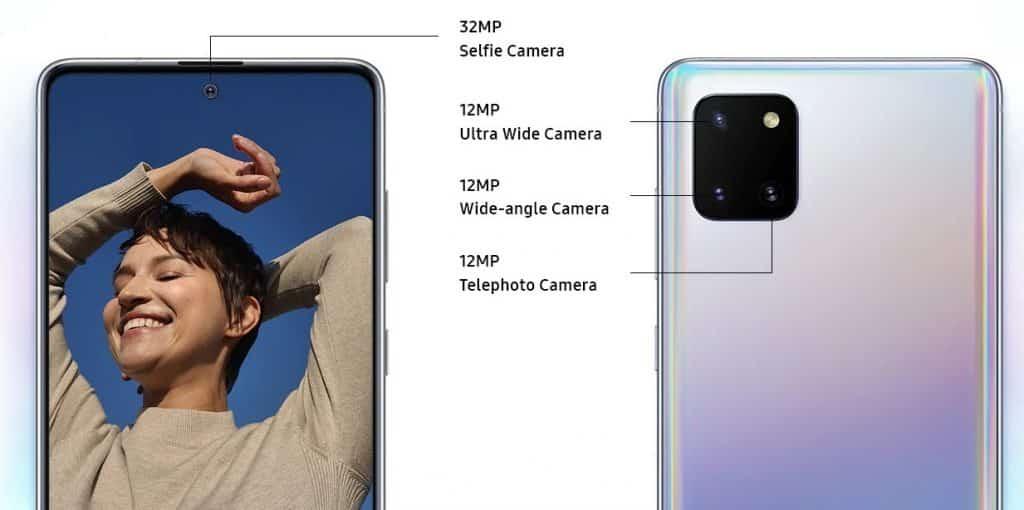 Câmeras Samsung Galaxy Note 10 Lite