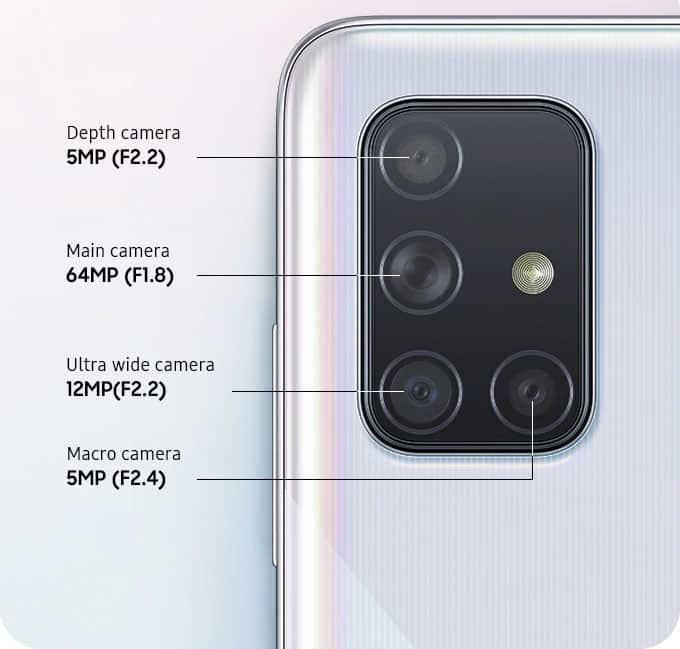 Câmeras Galaxy A71