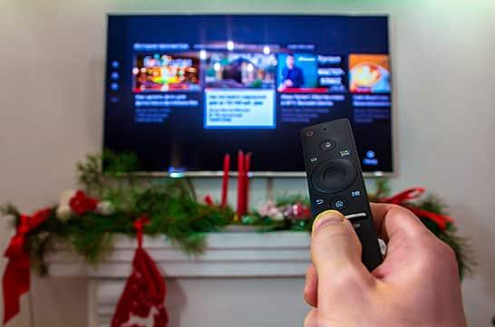 Smart TV para assistir filmes e especiais de fim de ano