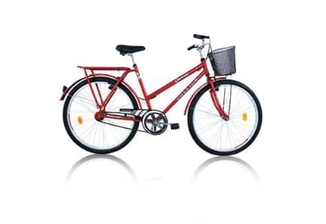 Uma bicicleta com cestinha te ajuda a carregar compras, mochilas e bolsas por onde for.