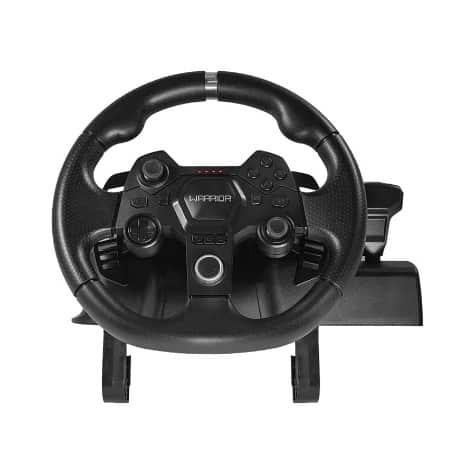 O volante permite uma experiência realista das pistas de corrida